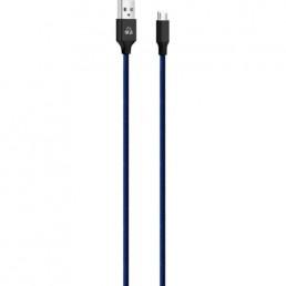 POWERTECH Καλώδιο USB σε Micro USB eco small PTR-0047 copper, 1m, μπλε