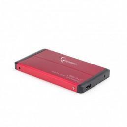 """GEMBIRD ΘΗΚΗ ΓΙΑ HDD 2.5"""" USB 3.0 ΚΟΚΚΙΝΗ"""