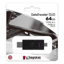 KINGSTON DTDE/64GB DATATRAVELER DUO 64GB USB 3.2 TYPE-A AND TYPE-C FLASH DRIVE