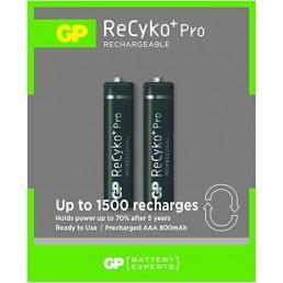 GP Batteries Recyko+ Pro AAA 800mAh (2τμχ)