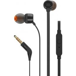 JBL TUNE 110 IN-EAR HEADPHONES WITH MICROPHONE BLACK