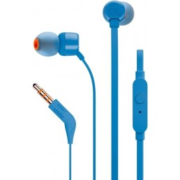JBL TUNE 110 IN-EAR HEADPHONES WITH MICROPHONE BLUE