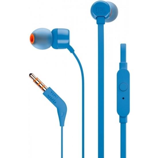 JBL TUNE 110 IN-EAR HEADPHONES WITH MICROPHONE BLUE