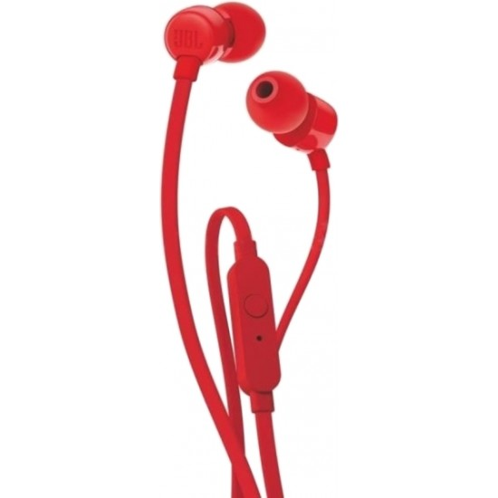 JBL TUNE 110 IN-EAR HEADPHONES WITH MICROPHONE RED