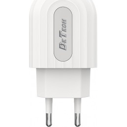 De Tech USB Wall Adapter Λευκό (DE-28)