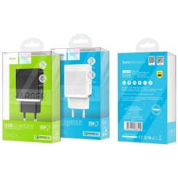 ΦΟΡΤΙΣΤΗΣ HOCO C42A QUICK CHARGE 3.0 FAST POWER USB CHARGER ΜΑΥΡΟ