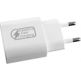 LIME USB 3.0 FAST TRAVEL CHARGER QC 3.0 LTU01 18W 2400mA WHITE