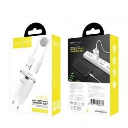 ΦΟΡΤΙΣΤΗΣ HOCO C37A THUNDER POWER USB CHARGER 2.4A ΜΕ ΚΑΛΩΔΙΟ TYPE-C