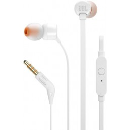JBL TUNE 110 IN-EAR HEADPHONES WITH MICROPHONE WHITE