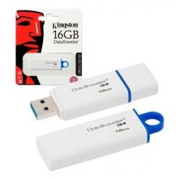 KINGSTON DATATRAVELER G4 16GB USB3.0 FLASH DRIVE BLUE