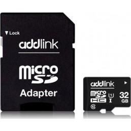 ADDLINK micro SDHC 32GB CLASS 10 UHS-1 4K ULTRA HD R85 MB/S +SD ADAPTOR