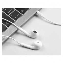 Hands Free Hoco M55 Earphones Stereo 3.5 mm Λευκά με Μικρόφωνο και Πλήκτρο Λειτουργίας