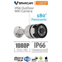 VStarcam C63S Αδιάβροχη ΠΑΝΟΡΑΜΙΚΉ IP κάμερα Full HD 1080p WiFi/Ethernet microSD Plug & Play