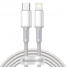 BASEUS καλώδιο USB Type-C σε Lightning CATLGD-A02, 20W, 2m, λευκό