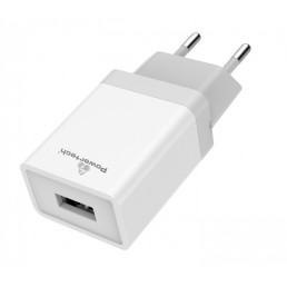 POWERTECH Φορτιστής τοίχου PT-759, 1x USB, 1A, λευκός