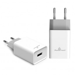 POWERTECH Φορτιστής τοίχου PT-780, 1x USB, 20W, 4A, QC 3.0, λευκός