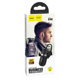Wireless Mono Headset Hoco E40 Surf Sound Μαύρο