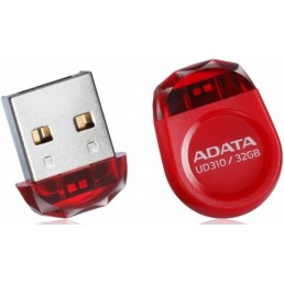 ADATA AUD310-32G-RRD DASHDRIVE DURABLE UD310 JEWEL LIKE 32GB USB2.0 FLASH DRIVE RED