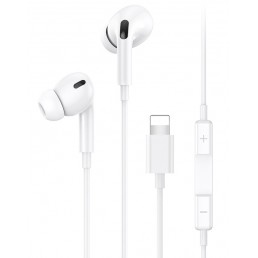 USAMS earphones με μικρόφωνο EP-41, Lightning, 10mm, 1.2m, λευκά