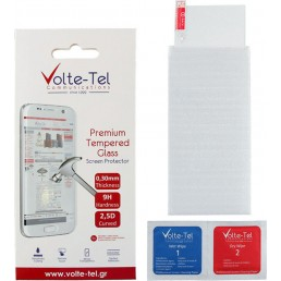 "VOLTE-TEL TEMPERED GLASS SAMSUNG A12 A125 6.5"" 9H 0.30mm 2.5D FULL GLUE"