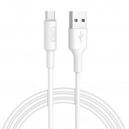 Καλώδιο σύνδεσης Hoco X25 USB σε Micro USB Fast Charging 2.0A Λευκό 1.0 μ.