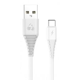 Powertech Regular USB 2.0 Cable USB-C male - USB-A male Λευκό 1m (PTR-0061)