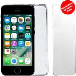 """VOLTE-TEL COMBO IPHONE SE/5S/5 4.0"""" TEMPERED 0.30 + ΘΗΚΗ SLIMCOLOR GREY"""