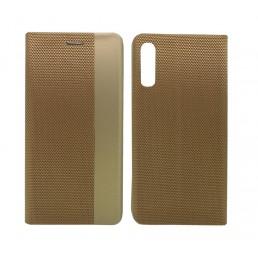 Θήκη Book Ancus Magnetic Canvas για Samsung SM-A505F Galaxy A50 / SM-A507F Galaxy A50s / SM-A307F Galaxy A30s TPU Χρυσαφί