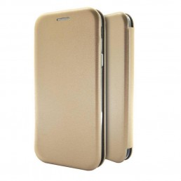 Θήκη Book Ancus Magnetic Curve για Samsung SM-A705FN Galaxy A70 TPU Χρυσαφί