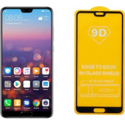 """IDOL 1991 TEMPERED GLASS HUAWEI P20 PRO 6.1"""" 9H 0.25mm 9D FULL GLUE SPECIAL FULL COVER BLACK"""
