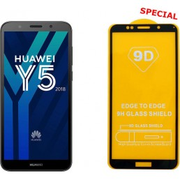 """IDOL 1991 TEMPERED GLASS HUAWEI Y5 2018/Y5 PRIME 2018 5.45"""" 9H 0.25mm 9D FULL GLUE SPECIAL FULL COVER BLACK"""