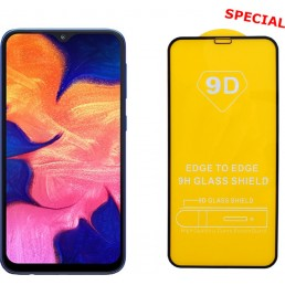 """IDOL 1991 TEMPERED GLASS SAMSUNG A10 2019 A105 6.2"""" 9H 0.25mm 9D FULL GLUE SPECIAL FULL COVER BLACK"""