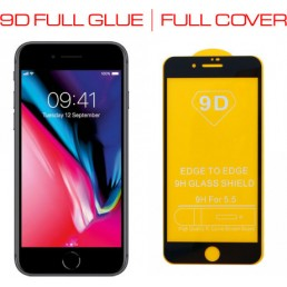 """IDOL 1991 TEMPERED GLASS IPHONE 8/7 PLUS 5.5"""" 9H 0.25mm 9D FULL GLUE SPECIAL FULL COVER BLACK"""