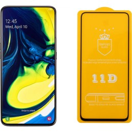 """IDOL 1991 TEMPERED GLASS SAMSUNG A80 2019 A805 6.7"""" 9H 0.25mm 9D FULL GLUE SPECIAL FULL COVER BLACK"""