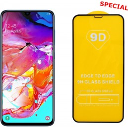"""IDOL 1991 TEMPERED GLASS SAMSUNG A70 2019 A705 6.7"""" 9H 0.25mm 9D FULL GLUE SPECIAL FULL COVER BLACK"""