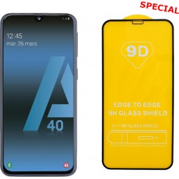 """IDOL 1991 TEMPERED GLASS SAMSUNG A40 2019 A405 5.9"""" 9H 0.25mm 9D FULL GLUE SPECIAL FULL COVER BLACK"""