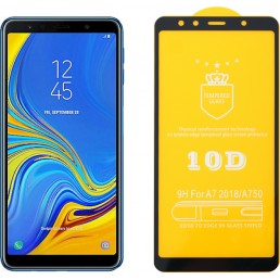 """IDOL 1991 TEMPERED GLASS SAMSUNG A7 2018 A750 6.0"""" 9H 0.25mm 10D FULL GLUE SPECIAL FULL COVER BLACK"""