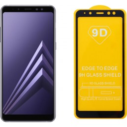 """IDOL 1991 TEMPERED GLASS SAMSUNG A8 2018 A530 5.6"""" 9H 0.25mm 9D FULL GLUE SPECIAL FULL COVER BLACK"""